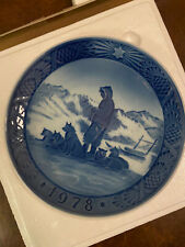 royal copenhagen collectible blue 1978 Christmas Plate in original box