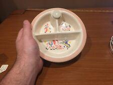 New listing Hankscraft Stoneware Baby Food Warmer divided dish bowl
