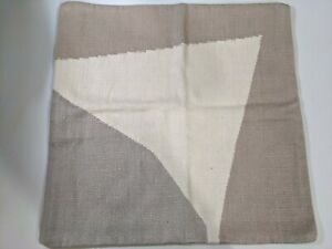"""West Elm Amplified Arrow Pillow Cover 24"""" x 24"""" Grey and Beige New with Tags"""
