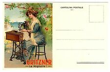 POSTCARD ITALIAN GRITZNER SEWING MACHINE ADVERTISING