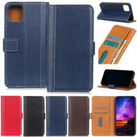 Litchi Book Wallet Leather Flip Case Cover For iPhone 12 11 Pro XR XSMax 7 8 SE2