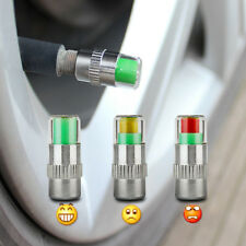 4x CAR TYRE TIRE PRESSURE MONITOR VALVE AIR CAP SENSOR INDICATOR 3 COLOUR GUAGE