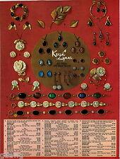 1969 ADVERTISEMENT 3 Pg Jewelry Karen Lynne Scarabs Russel Bracelet Spray Pin