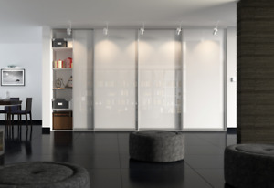 UK HAND MADE MODERN FITTED SLIDING WARDROBE DOORS WITH FREE TRACK & DELIVERY