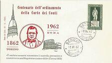 ITALIA BUSTA PRIMO GIORNO 1962 ANNULLO SPECIALE GENOVA FDC CORTE  CONTI CAVOUR