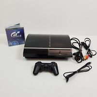 SONY Playstation 3 PS3 Black Fat Console 80Gb + Controller + Gran Turismo 6
