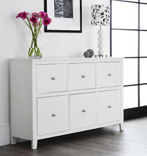 Brooklyn White Large Chest of drawer, Wide Dresser,Assembled,metal runners