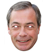 Nigel Farage Celebrity 2D Card Party Face Mask Fancy Dress Up UKIP Politician