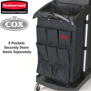 Rubbermaid 9 Pocket Executive Organiser Hanging Cart Caddy Housemaid Janitor