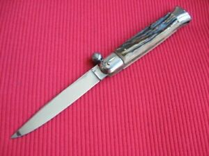 Vintage Rare Italian STILETTO Manual Pocket Knife