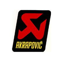 Sticker badge Akrapovic 65x70 original genuine KTM