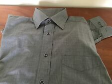 "Shirt Men's ""Next"" 100% Cotton Size 15 in Grey Long Sleeve Immaculate"