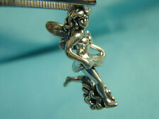 Genuine Solid Sterling Silver Guardian Angel Girl Wearing a Skirt Charm Pendant