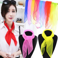Elegant Sheer Chiffon Scarf Shawl Solid Thin Neckerchief Custume Accessory Gift