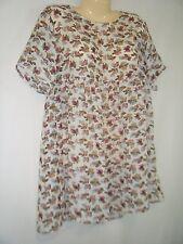 Vtg Gauze Semi-sheer Babydoll Bohemian Rose Flowers Grunge Revival Mini Dress S
