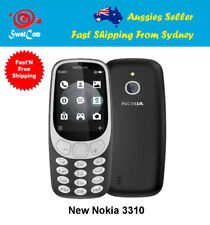 Brand New Nokia 3310 3G - Charcoal Aussie Stock with FM Radio Vodafone locked