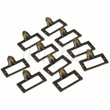 10pcs Vintage Cabinet Drawer Label Pull Handle Label Frame Card Holder 56x46mm