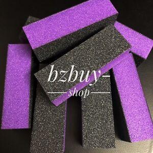 10 Pcs Nail Polisher 4 Way Buffer Buffing Block Manicure File Black Purple