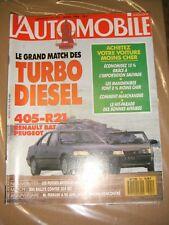L'automobile magazine N° 501 1988 Turbo Diesel 405 R21 Ferrari 205 Rallye 205GTI
