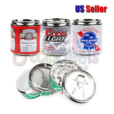 "Beer Pop CAN 2"" , Tobacco Herb Grinder,4 Parts, Random Style!"