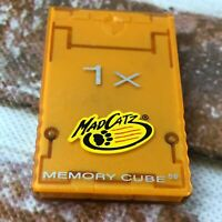 Nintendo GameCube 1X Memory Cube 59 Mad Catz Save Memory Card 5607