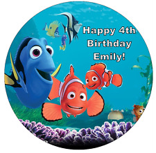 """Finding Nemo Dory Personalised Edible Cake Topper Wafer Paper 7.5"""""""