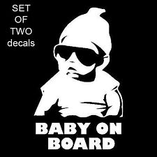 2X  BABY ON BOARD CARLOS FUNNY HANGOVER CAR TRUCK WINDOW STICKER VINYL DECAL