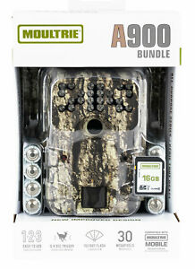 Moultrie A900 30 MP Bow Hunting Trail Camera Bundle - USA Ships Free