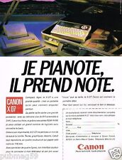 Publicité advertising 1985 Ordinateur Canon X07