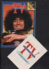 RADIOCORRIERE 21/1986 BRANDUARDI STALLONE PAOLO ROSSI VIALLI CONTI MEXICO MUNDIA