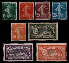 L'ANNÉE 1907, Neufs * = Cote 125 €  / Lot Timbres France 137 à 145