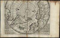 North Pole Canada rare Dublin Grierson pirate c.1735 Moll scarce old map