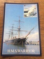 Huge Postcard HMS Warrior HM Naval Base Portsmouth Hants Pat Eden Photo DRG