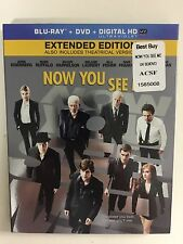 Now You See Me (Blu-ray/DVD, 2013, 2-Disc, Digital HD) NEW w/slipcover