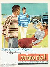 Publicite ADVERTISING 125 1956 Armorial flaminella fabrics the t.t club dove
