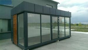 Bürocontainer mobil Verkaufspavillon Container Neu Baucontainer Autohandel