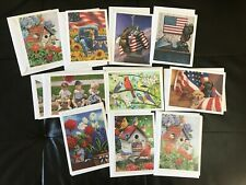 Lot of 11 Greeting Cards with Envelops Blank Any Occasion Assorted Designs!