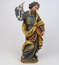 Religiöse Holzfigur Hl. Petrus der Apostel, Holz geschnitzt Südtirol