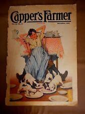 Vintage Cover November 1925 Magazine Capper's Boy & Puppies Davis