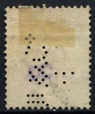 Straits Settlements 1882 SG#52, 8c #D46716 Naranja QV utilizado Perfin