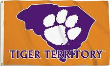Clemson Tigers 3' x 5' Flag (State Outline Tiger Territory) NCAA Licensed