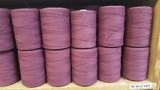 Rug Warp- Lot of 10 (1/2 lb ea.)- Cotton/Polyester Blend- Color Burgundy