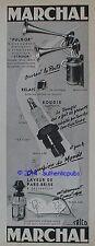 PUBLICITE MARCHAL BOUGIE CORINDON FULGOR STRIDOR LAVEUR PARE BRISE DE 1955 AD