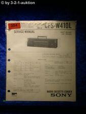 Sony Service Manual CFS W410L Cassette Recorder (#0384)