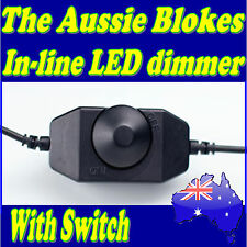 In-Line LED lighting dimmer with on / off dial switch Caravan Camping Boat