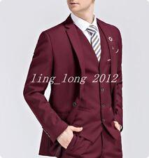 New Mens 3 Pieces Suits Wedding Suit Set Formal Blazer Tuxedos Jacket Pants Vest