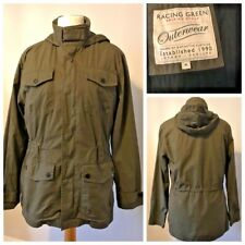 Men's RACING GREEN 3 in 1 Jacket Size M Khaki Lined Removable Gilet Light Quilt