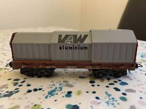 Lima H0 Gauge 303186 Telescopic VAW Aluminium Freight Wagon