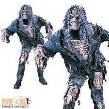 Zombie Completo + MASCHERA ADULTO HALLOWEEN FANCY DRESS Orrore Costume Da Uomo Vestito