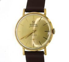 VINTAGE OMEGA CHAMPAGNE DIAL AUTOMATIC SEAMASTER 18K GOLD PLATED 17 JEWELS WATCH